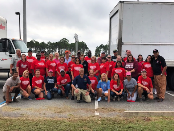 Teamsters and the AFL-CIO labor coalition assisting with disaster relief in North Florida