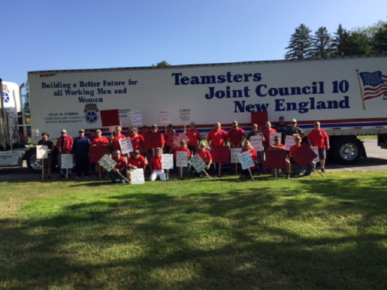 Teamsters Local 340 UMaine Workers Picketing at the Orono Campus