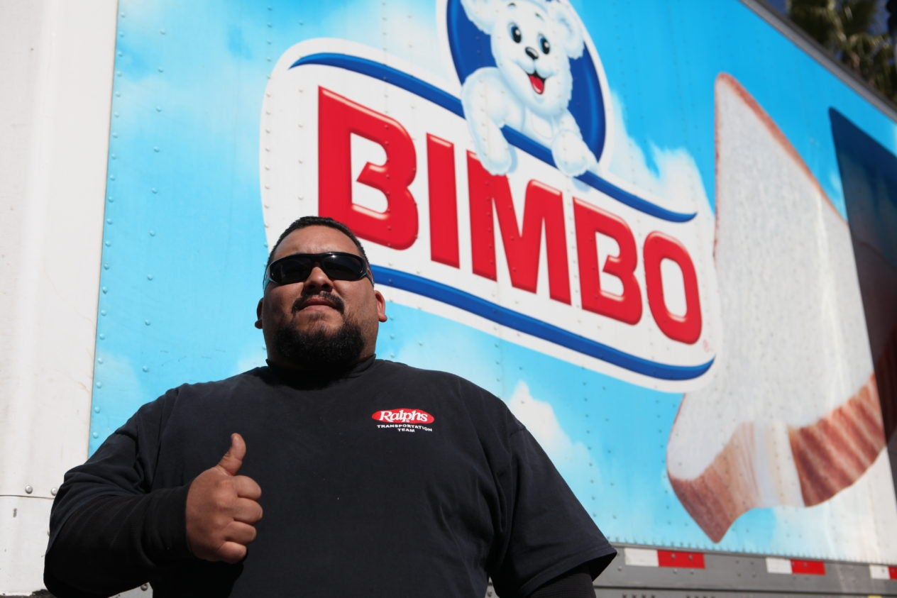 Bakery driver at Bimbo bakeries