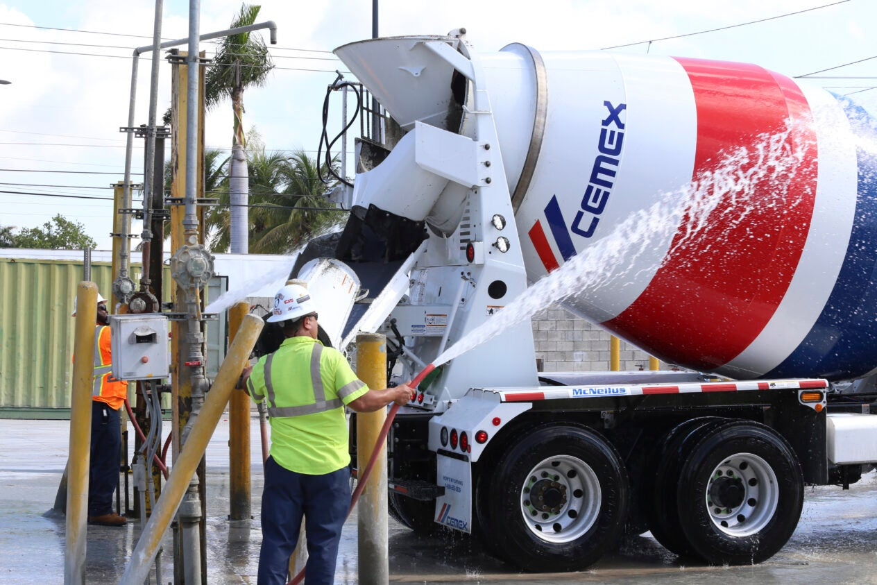 CEMEX drivers in Miami Florida with LU 769, 4/10/18 , 2018