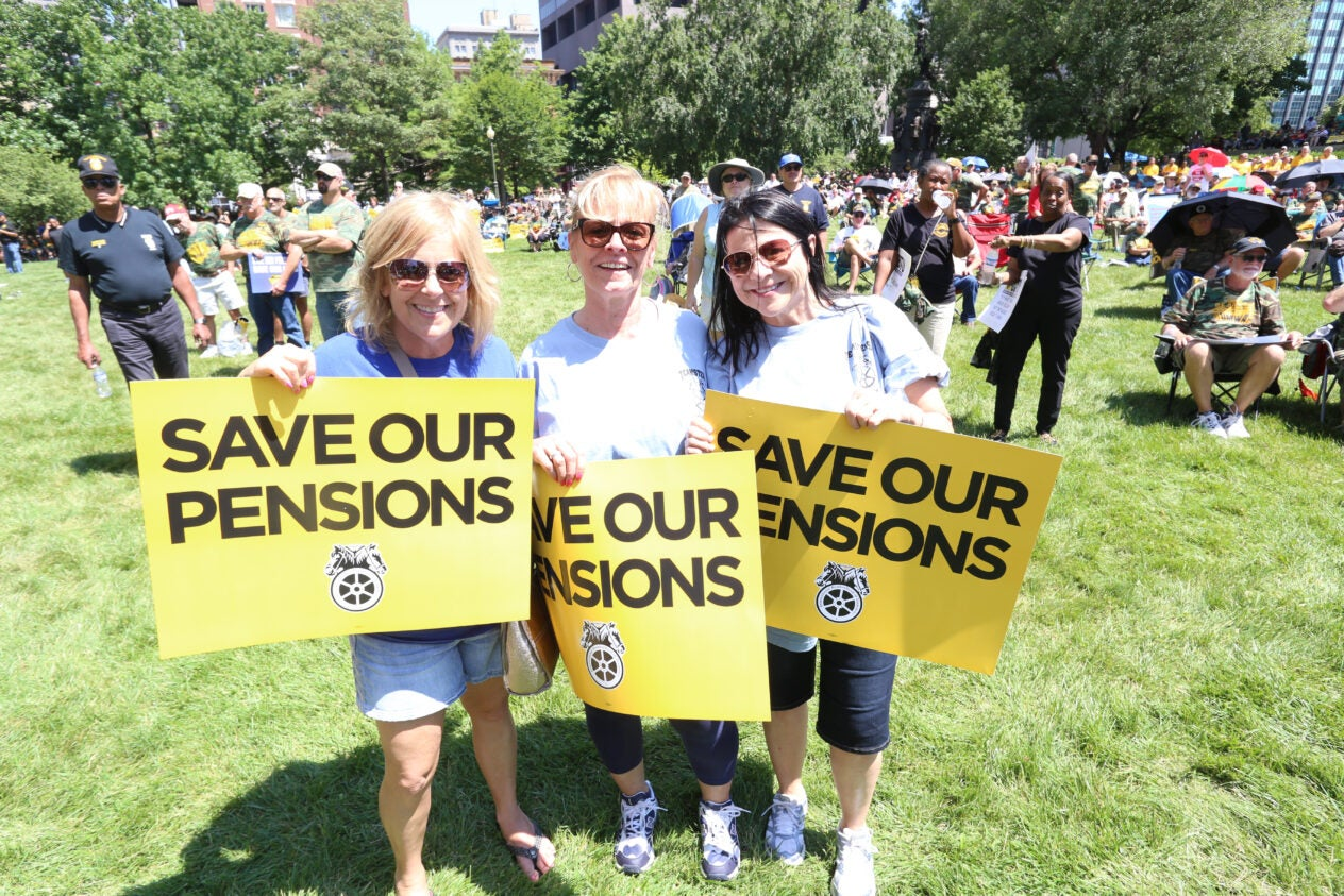 Columbus, Ohio Pension Rally, July, 2018 retirees , Jim Hoffa